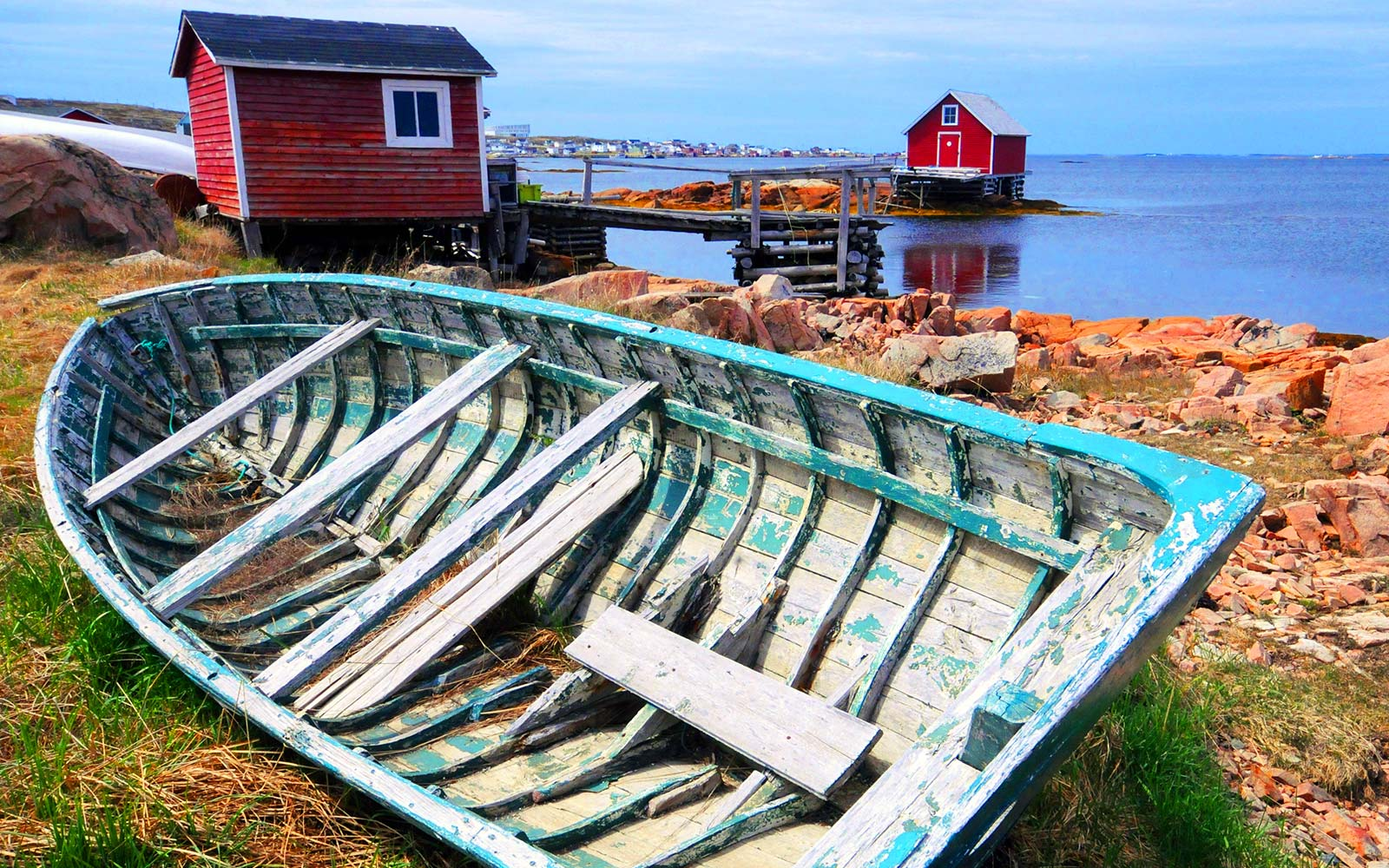 Canadian fishing village Fogo Island Newfoundland