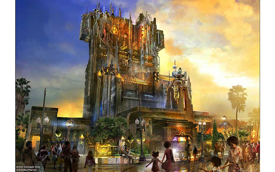 The New Tower of Terror Looks Like a Fortress From Outer Space