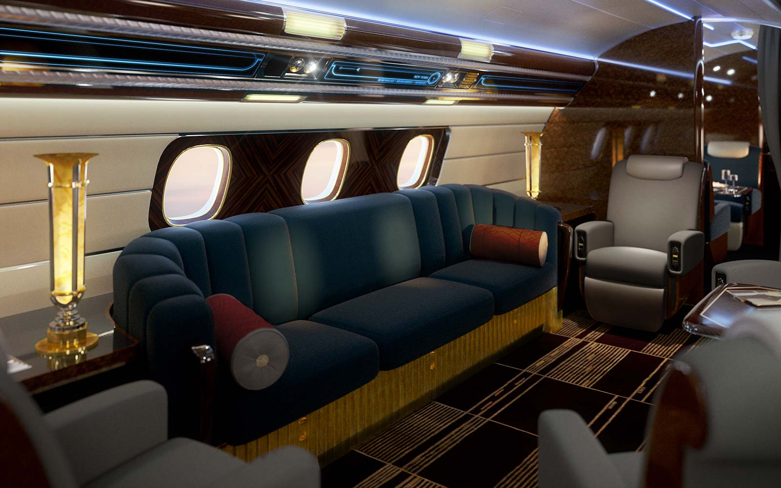 Art Deco Plane Interior Design