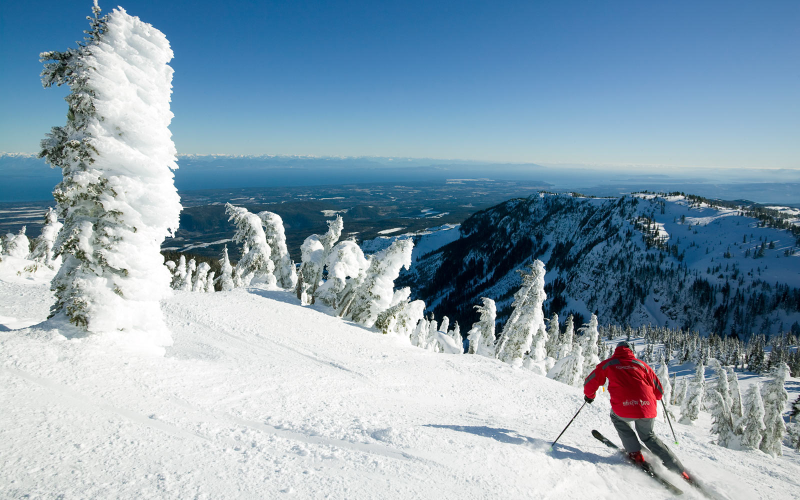 Skier, Mt. Washington Alpine Resort, Vancouver Island, British Columbia, Canada