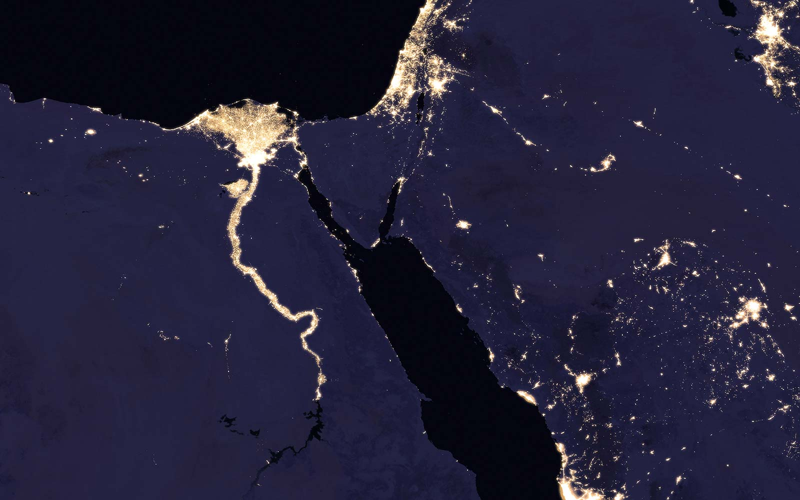 Earth at night NASA photos
