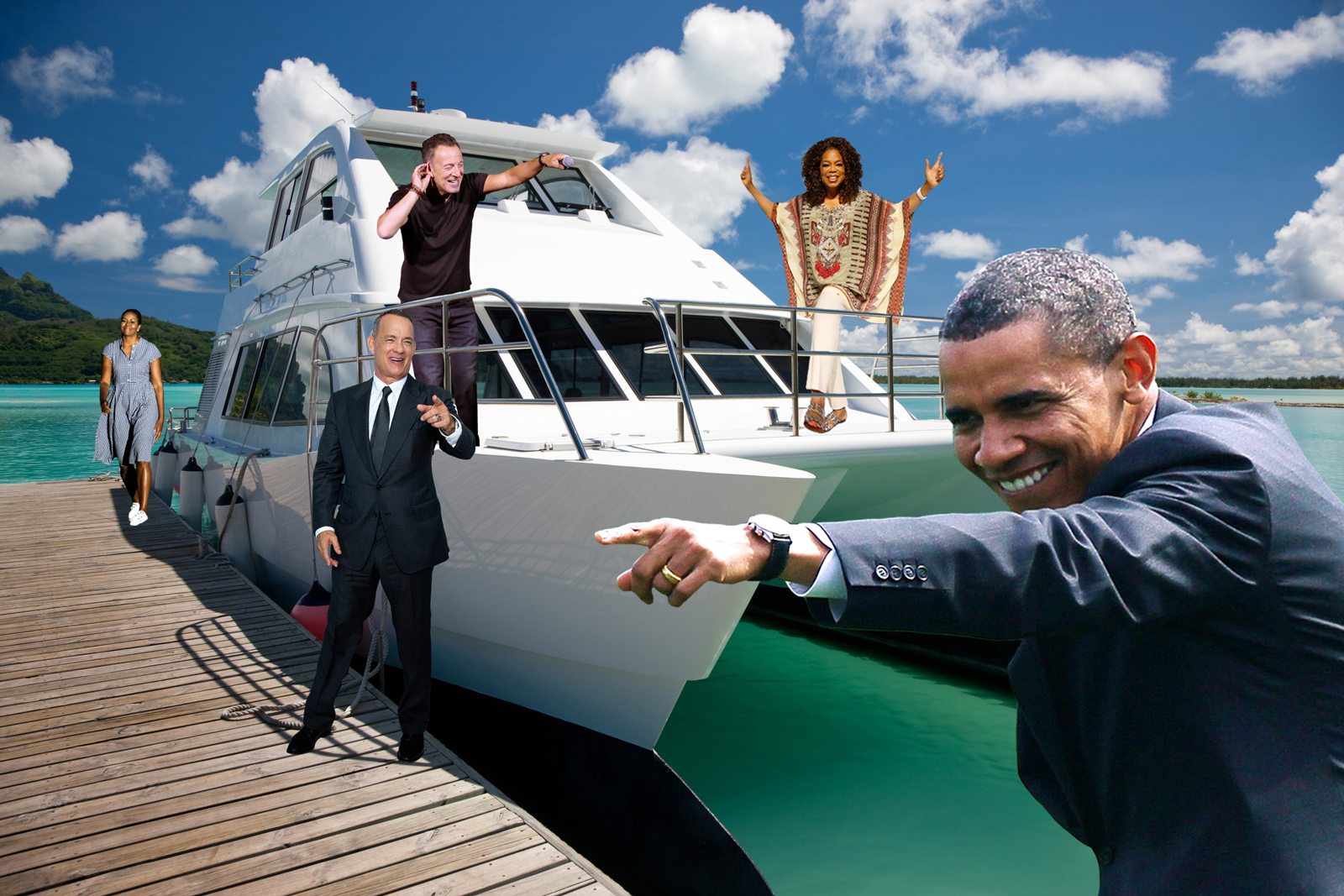 Obama, Oprah, Tom Hanks, and Bruce Springsteen All Went on Vacation Together