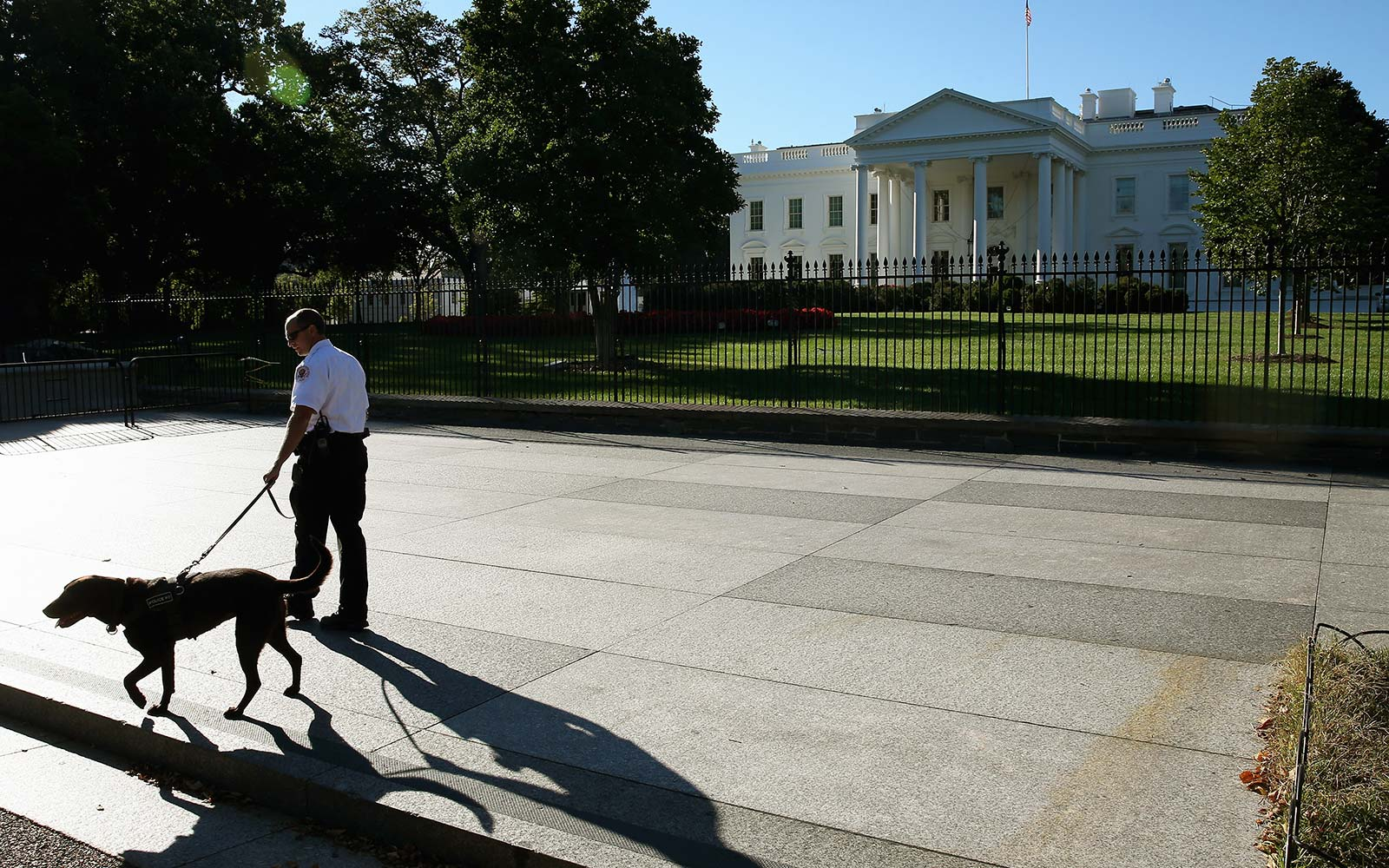 White House sidewalk closed permanently