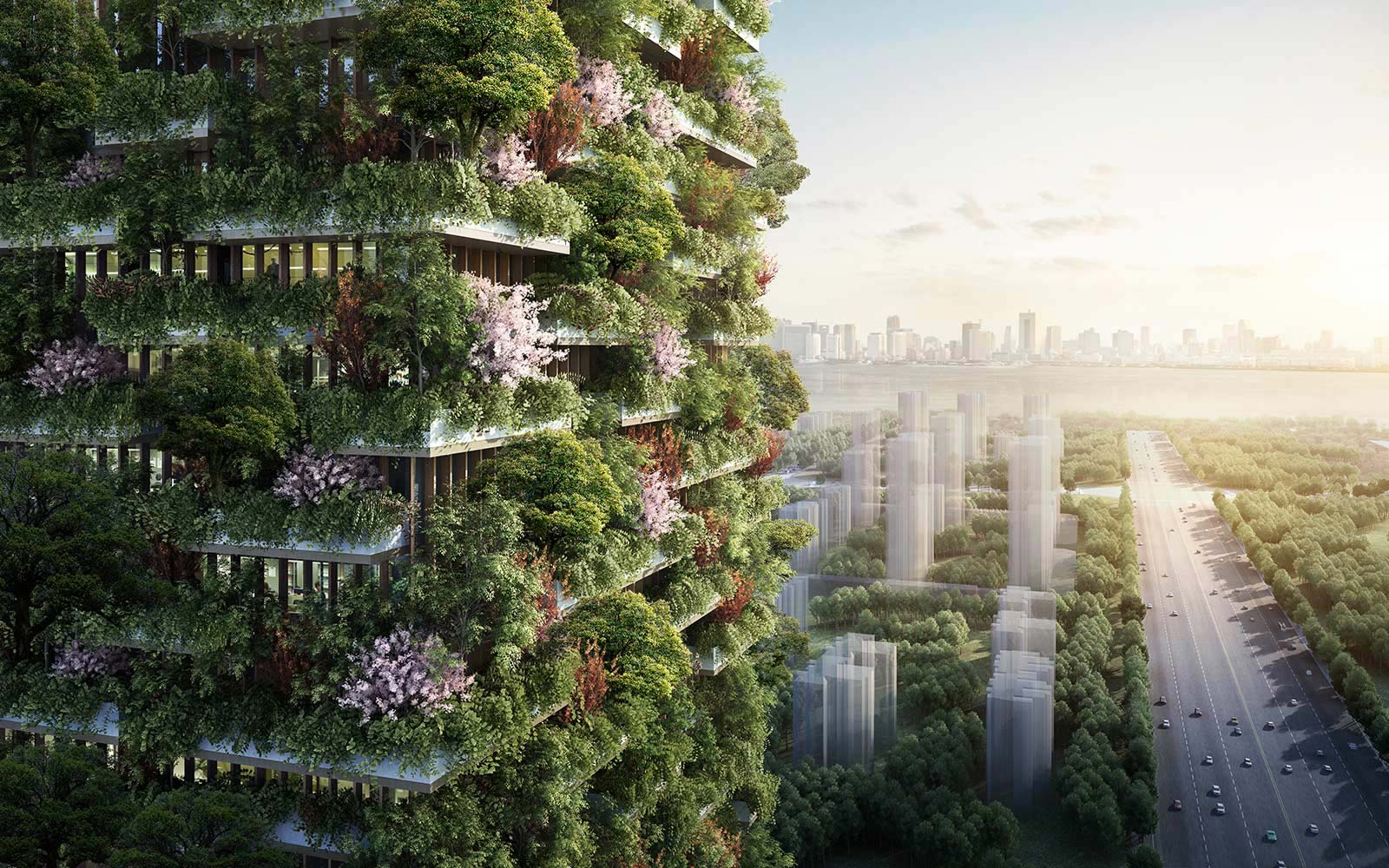 Architects Propose a City of Skyscrapers Covered in Trees to Clean the Air