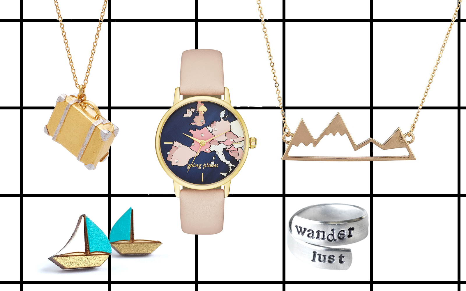 Cute Travel-inspired Jewelry Picks from $8