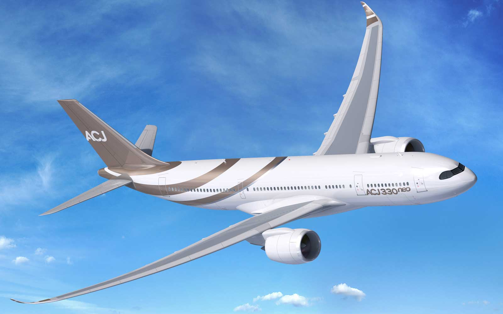 This new Airbus jet is a custom command center in the skies