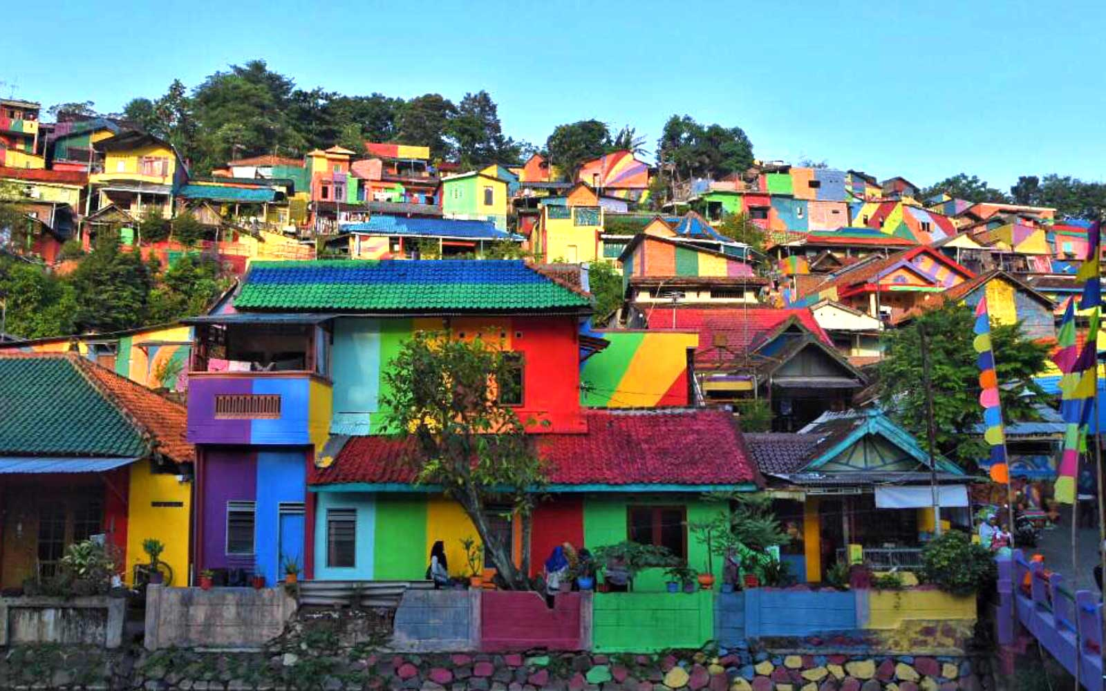 This Remote Town in Indonesia Painted Itself Entirely in Rainbows