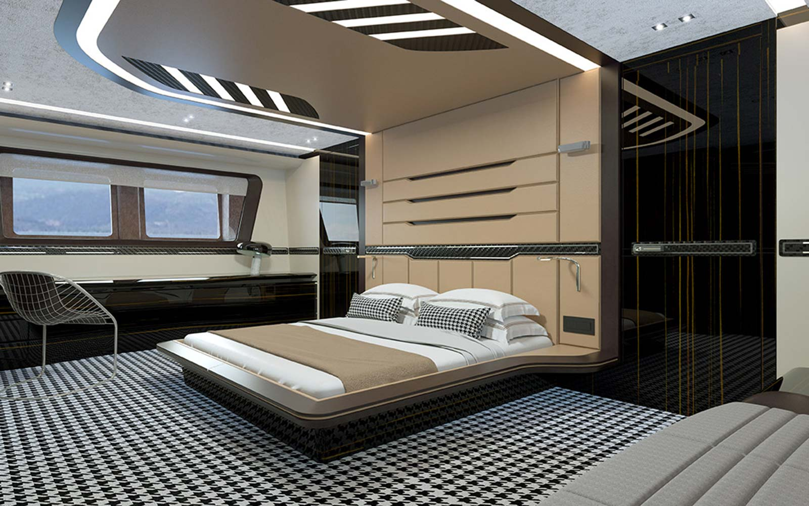 Dynamiq Custom Luxury Porsche Yachts Bedroom