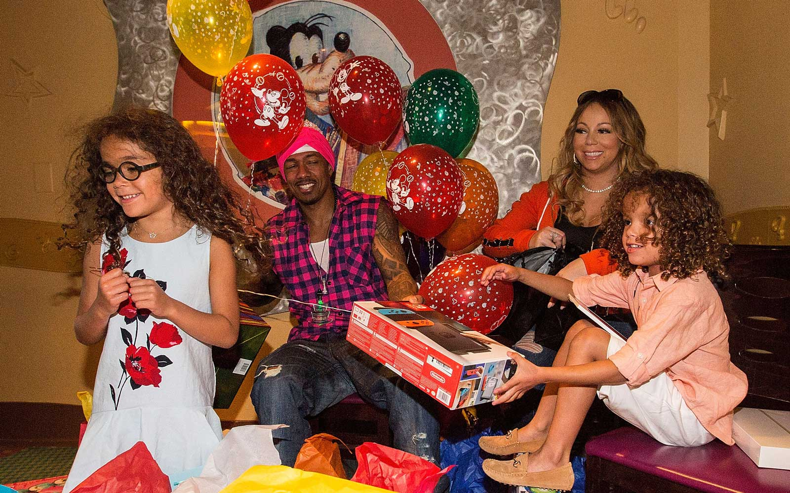 Mariah Carey and Nick Cannon threw the best Disneyland birthday party ever for their twins