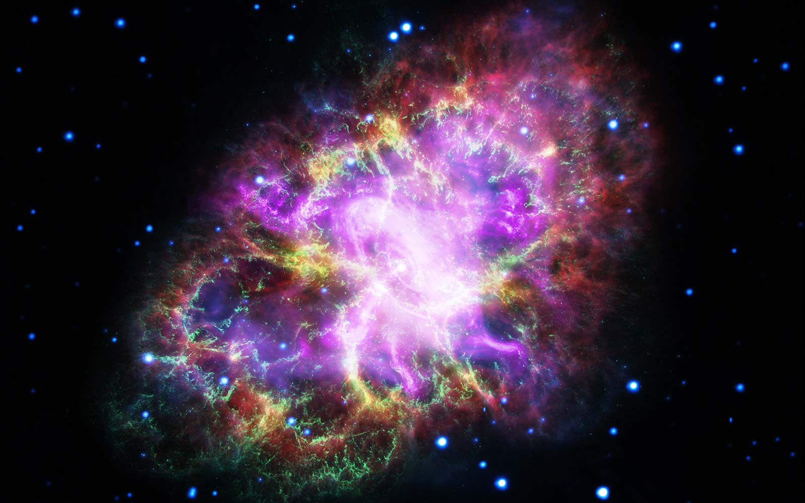 We can't get over NASA's psychedelic photo of the Crab Nebula