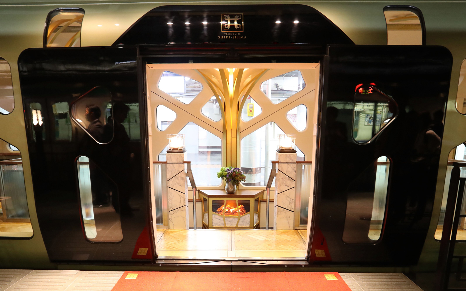 Japan's Newest Luxury Train Has Hot Tubs and Fireplaces — and It's Sold Out Through Next Year
