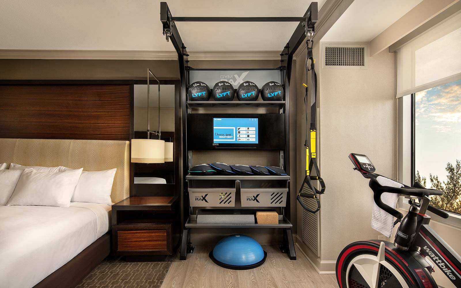 Five Feet to Fitness Hilton Hotels