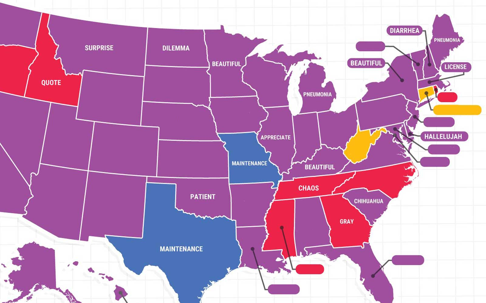 What is the most misspelled word in your state? This map will tell you