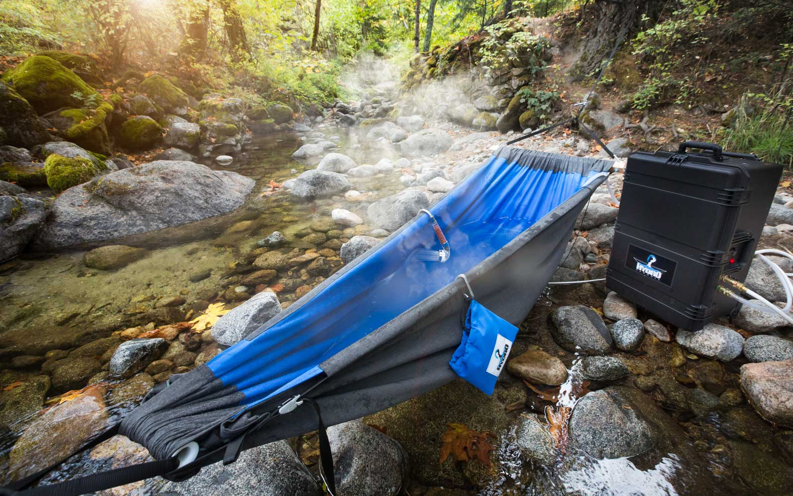 You can make your own private hot tub in minutes with this crazy hammock