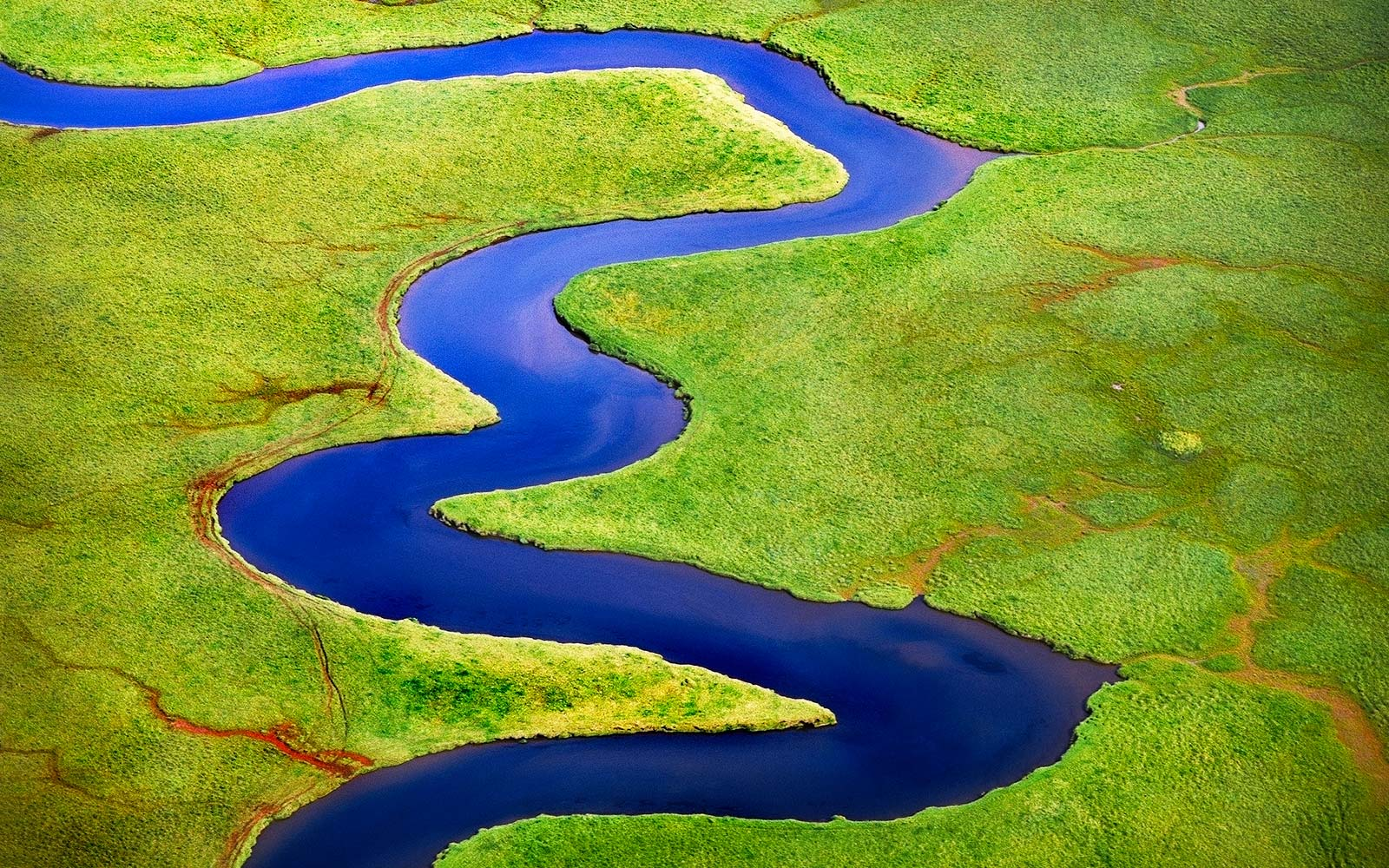 Iceland water creek aerial river stream