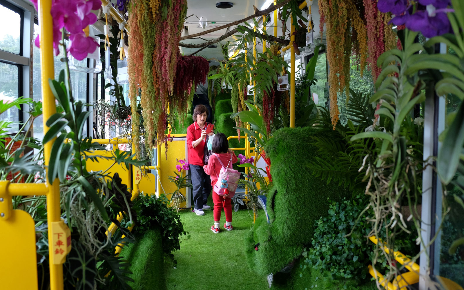 Commute with nature on this bus-turned-forest in Taipei