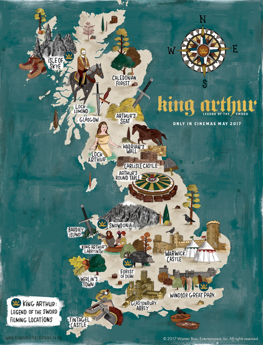 Locations in King Arthur: Legend of the Sword.