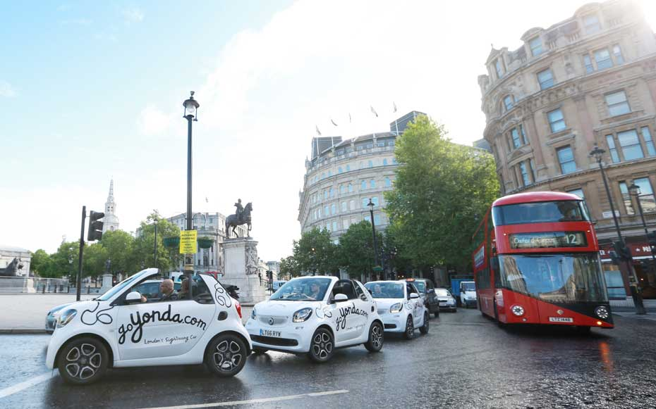 London's first self-driving tour is great for visitors who can multitask