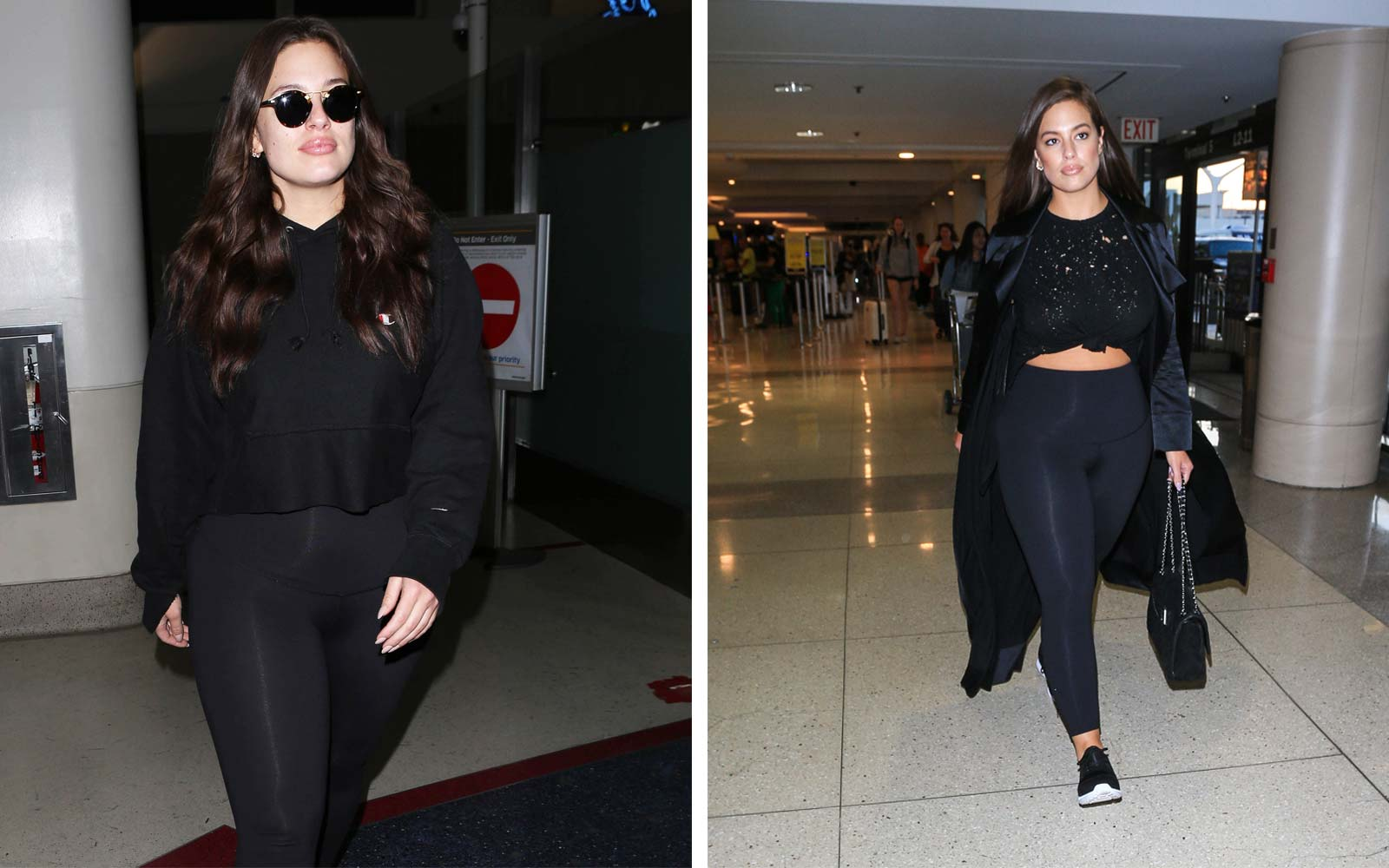 Ashley Graham airport style