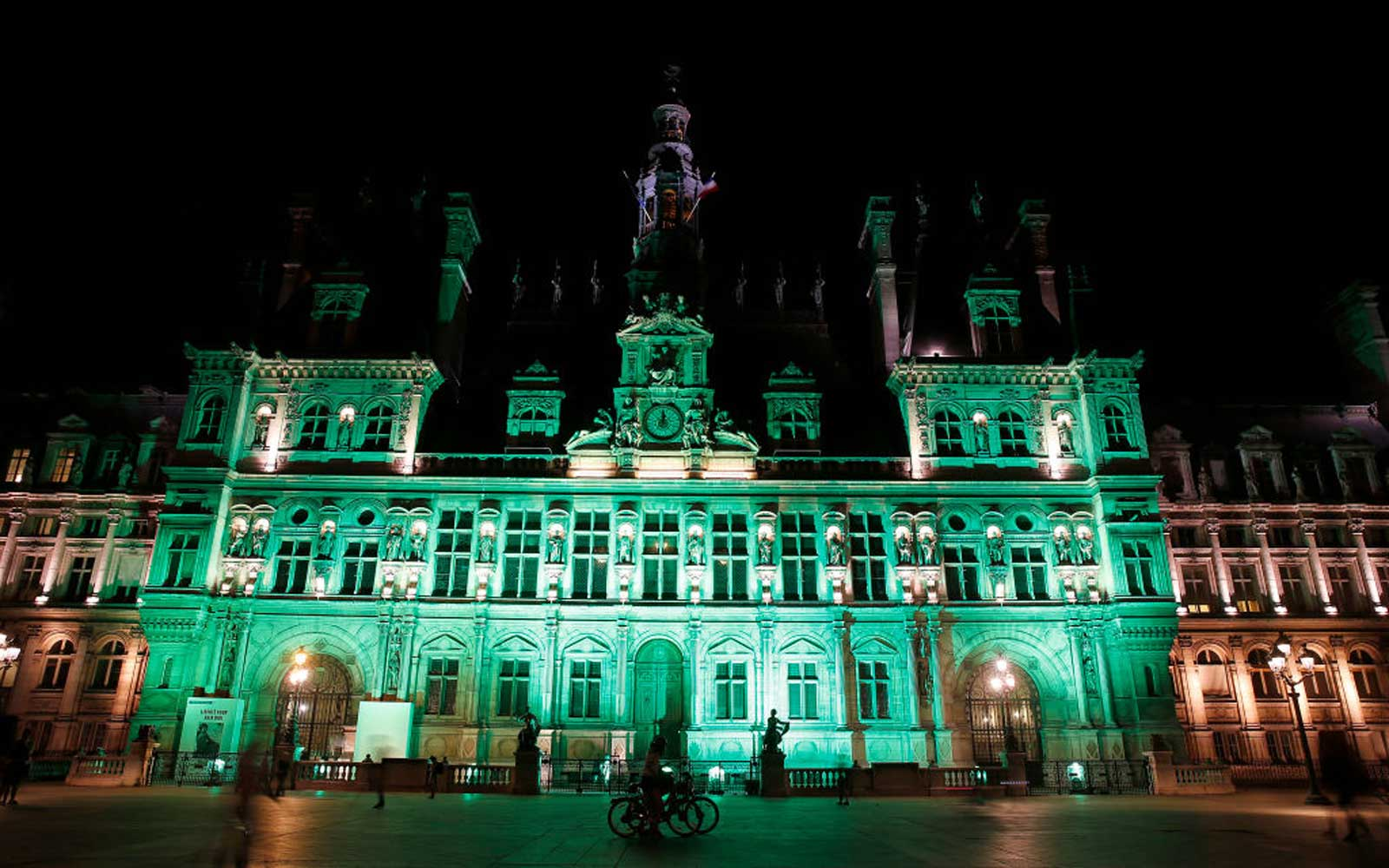 Landmarks around the world go green to show support for the Paris Climate Accord