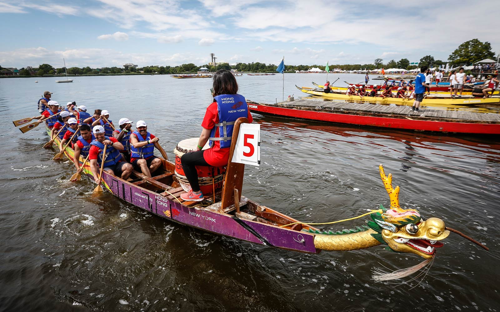 Hong Kong Dragon Boat Festival, Flushing Meadows, Corona Park, New York
