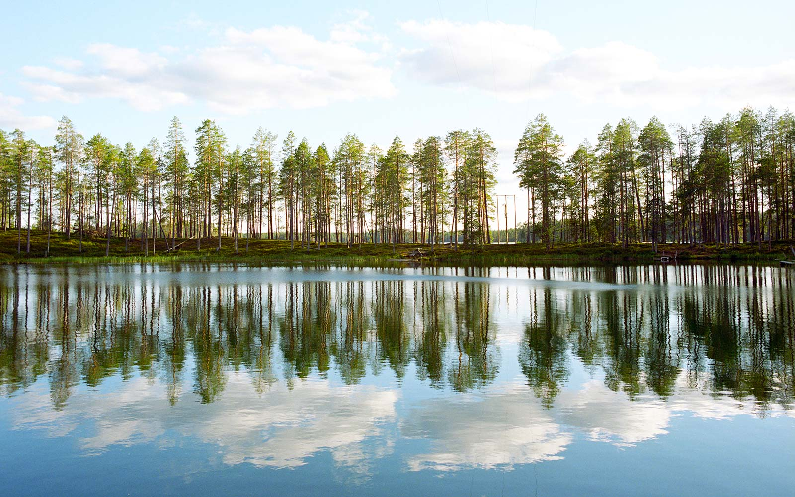Finland, Hossa National Park, Lake Nature