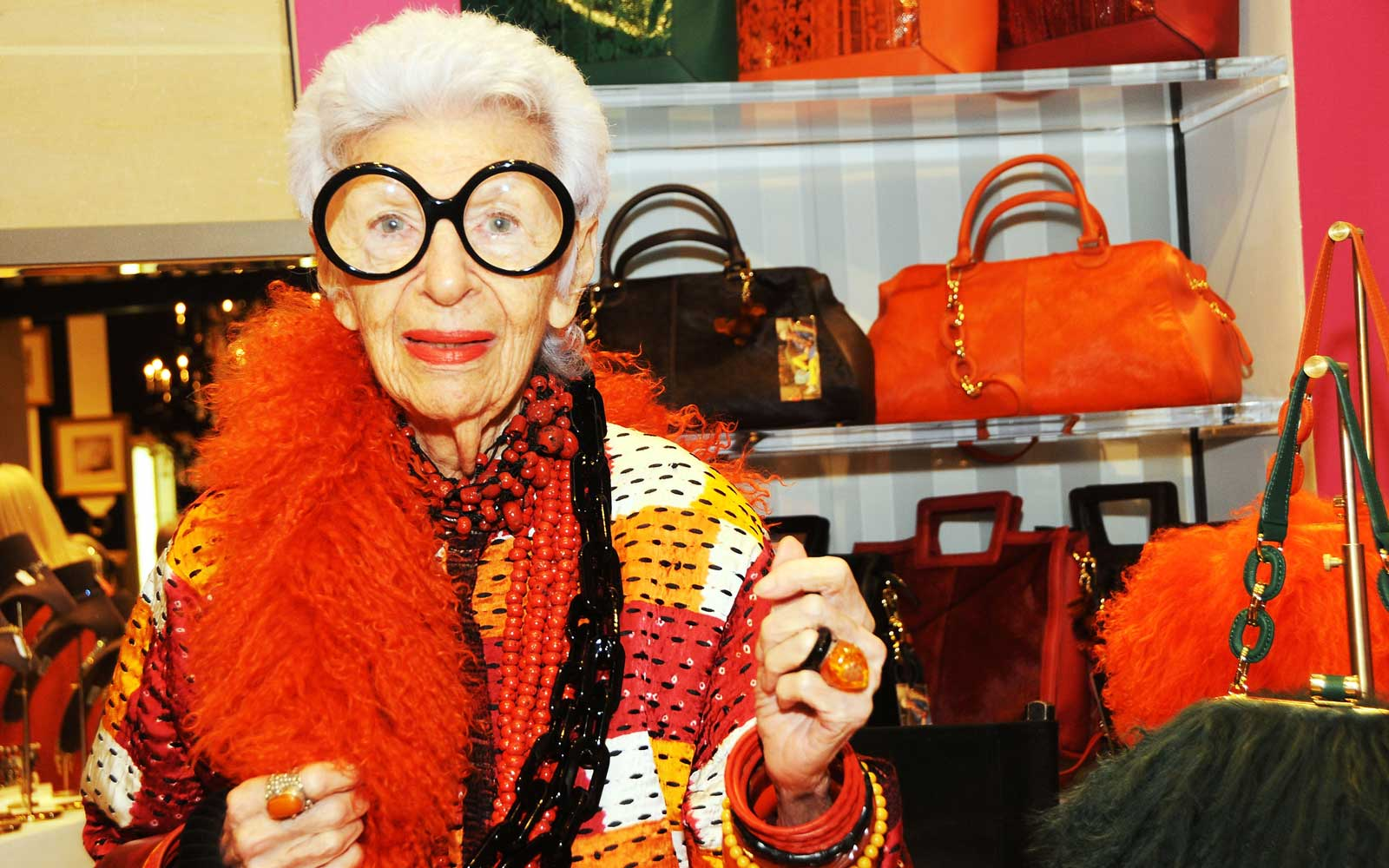Fashion icon Iris Apfel has the best advice on how to travel in style