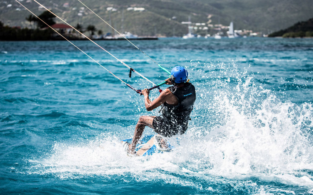 UNSPCIFIED, BRITISH VIRGIN ISLANDS - FEBRUARY 1:In this undated image former President Barack Obama kitesurfs at Richard Branson's Necker Island retreat on February 1, 2017 in the British Virgin Islands. Former President Obama and his wife Michelle have b