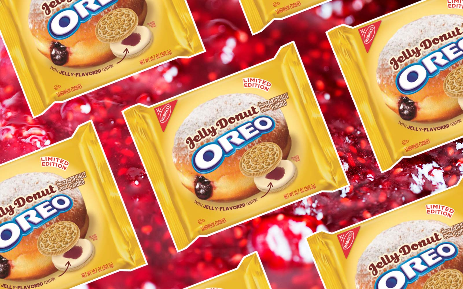 Jelly Doughnut Oreos are here just in time for National Doughnut Day