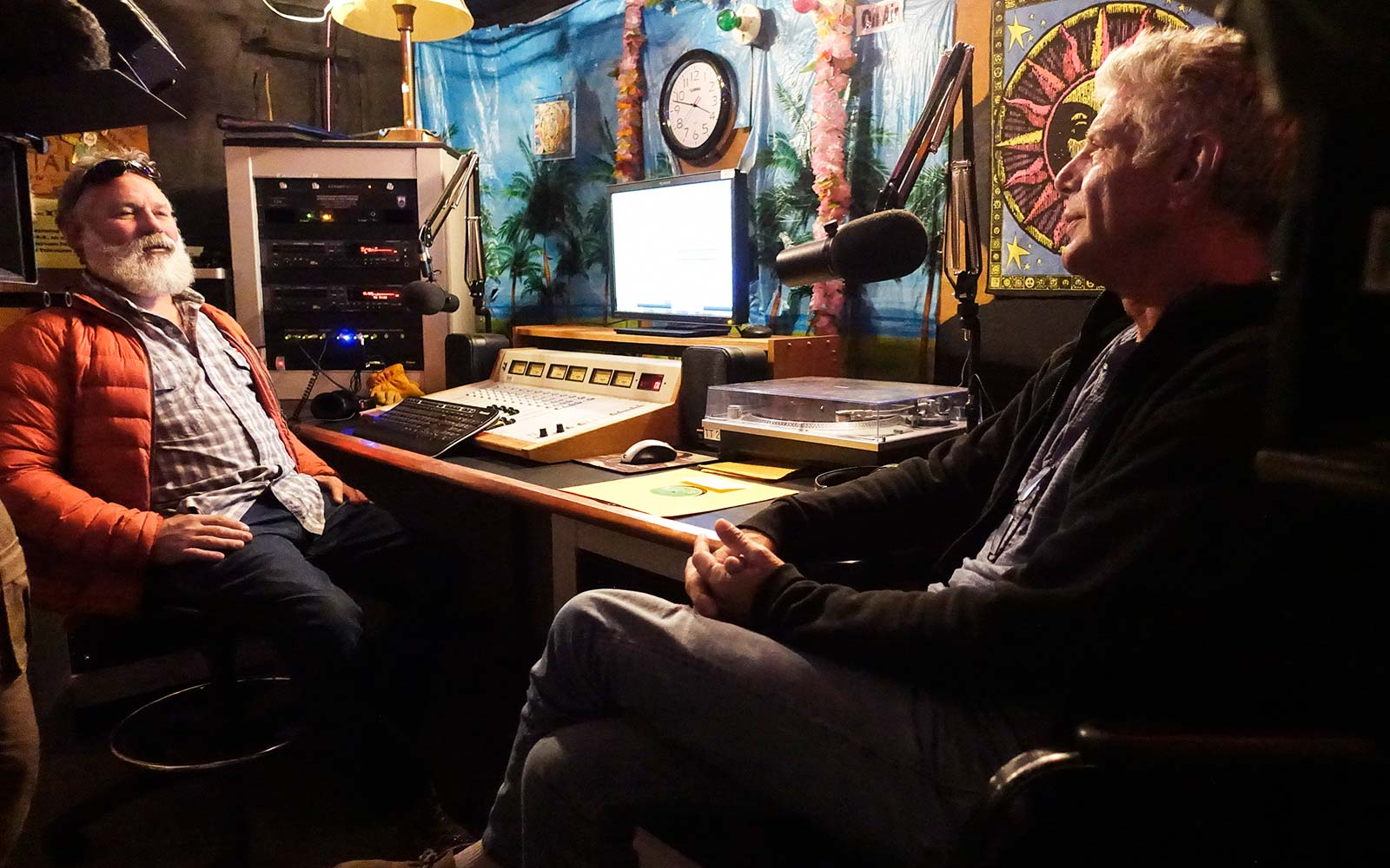 Anthony Bourdain Parts Unknown Antarctica Romano Paoletti at the McMurdo Station radio station.