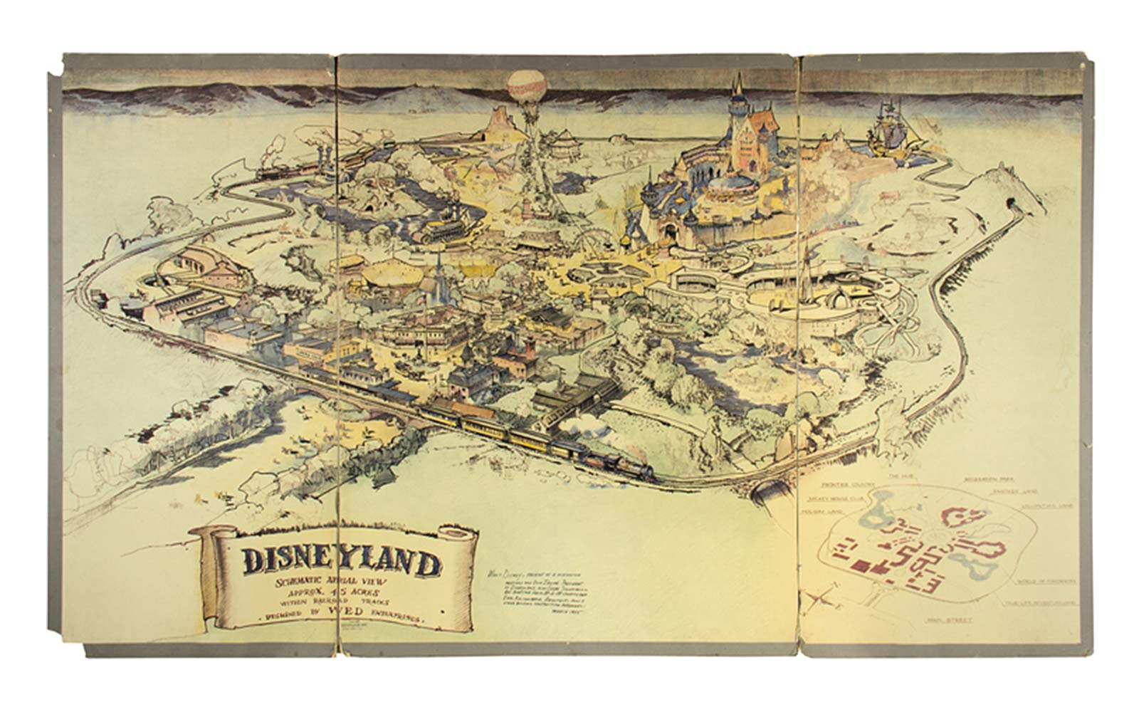 The Map of Disneyland That Walt Disney Designed in 1953 Is Going to Auction