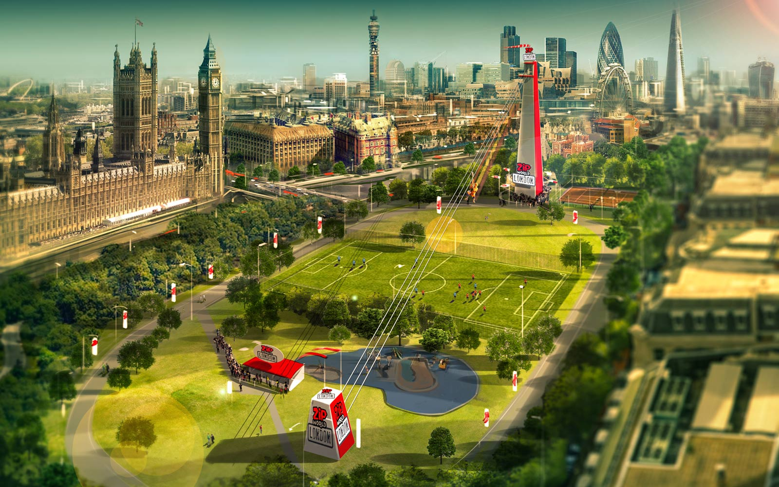 London's New Zip Line Will Take You on an Epic Ride Over the City