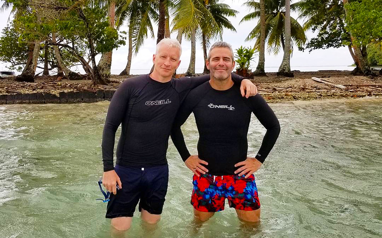 Andy Cohen and Anderson Cooper Are Best Friend Goals on Vacation in Bora Bora