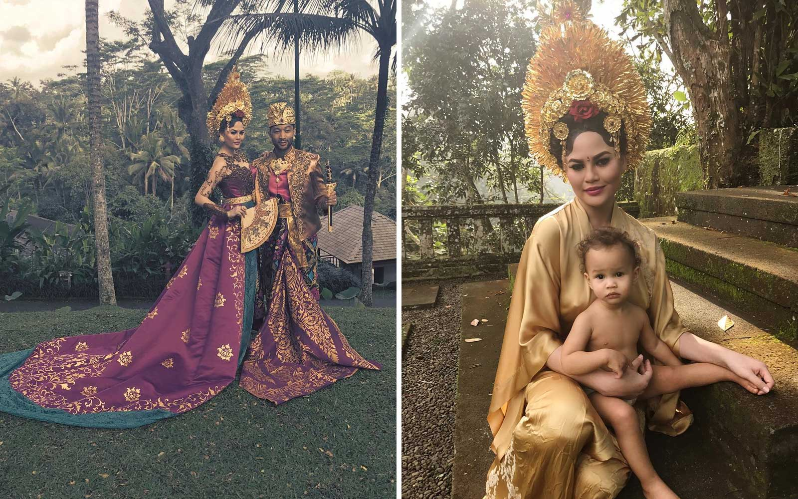 Chrissy Teigen John Legend and Luna in Bali