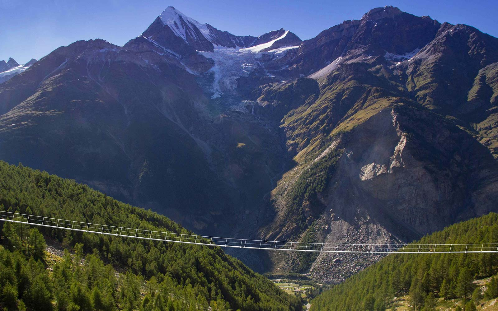 Europaweg Grachen Zermatt Switzerland Mountain Alps Longest Suspension Bridge Hike