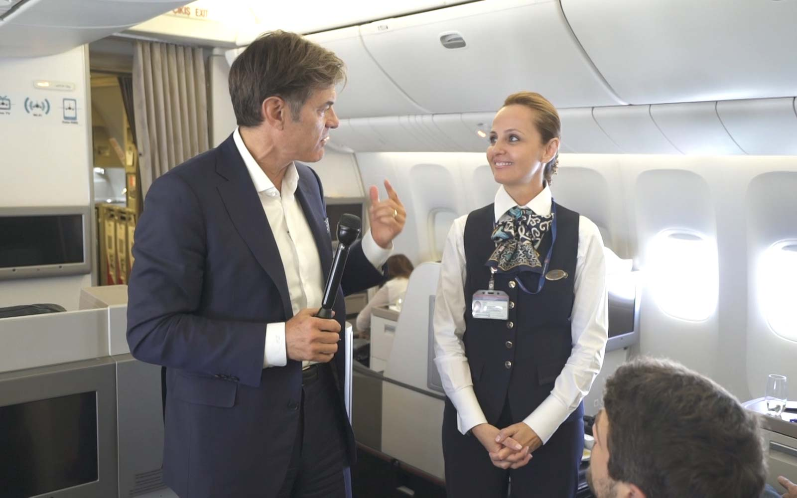 Dr Oz Show In-Flight Turkish Airlines tv segment