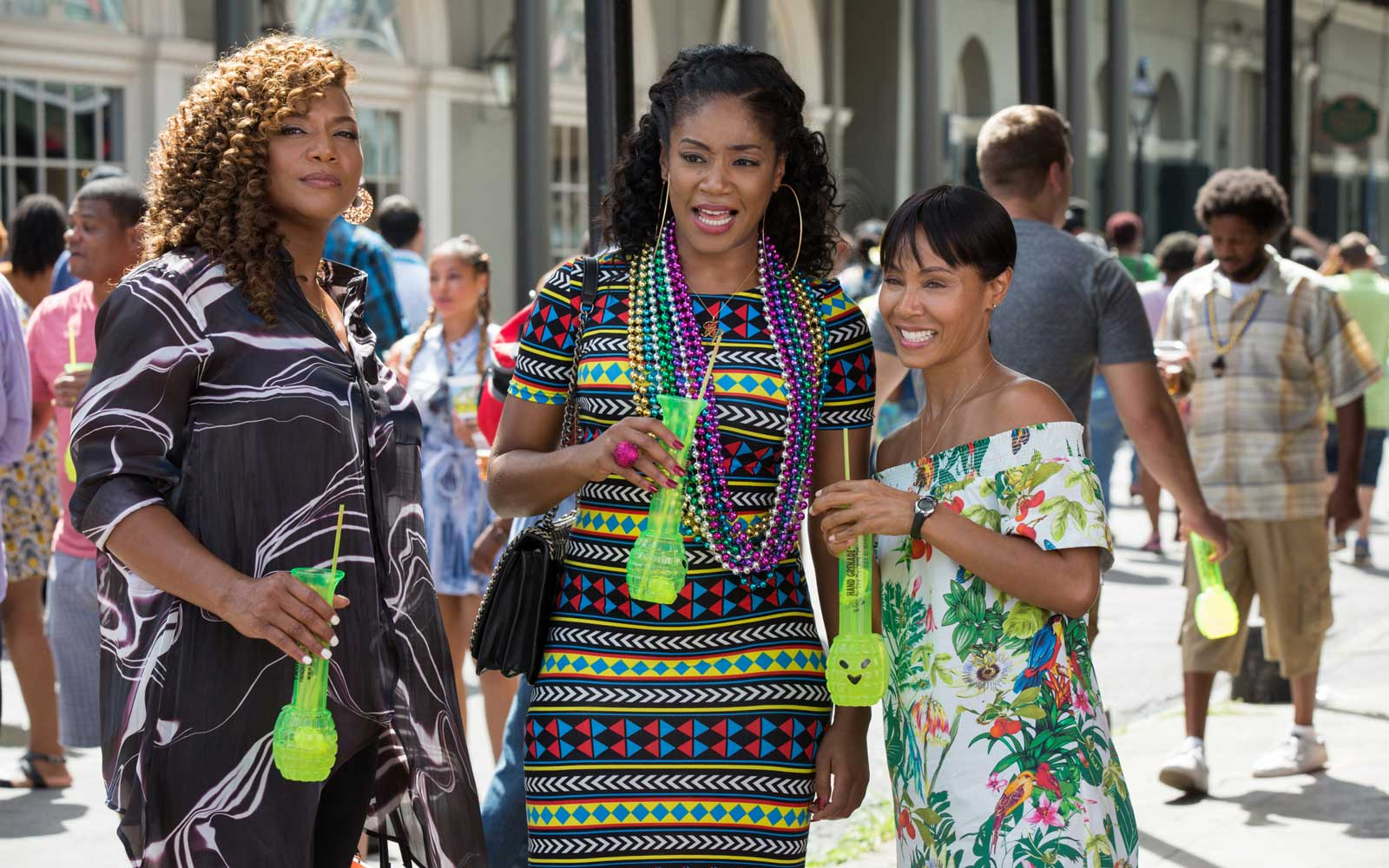 Girls Trip (2017) Directed by Malcolm D. LeeShown from left: Queen Latifah, Tiffany Haddish, Jada Pinkett Smith