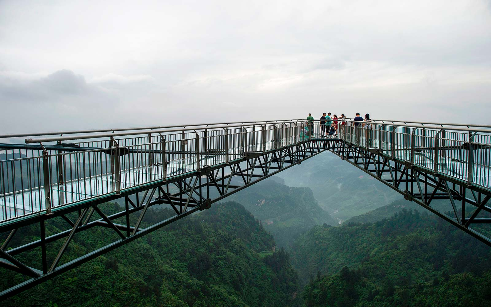 We Dare You to Look Down From This Glass-bottomed Skywalk on the Side of a Cliff