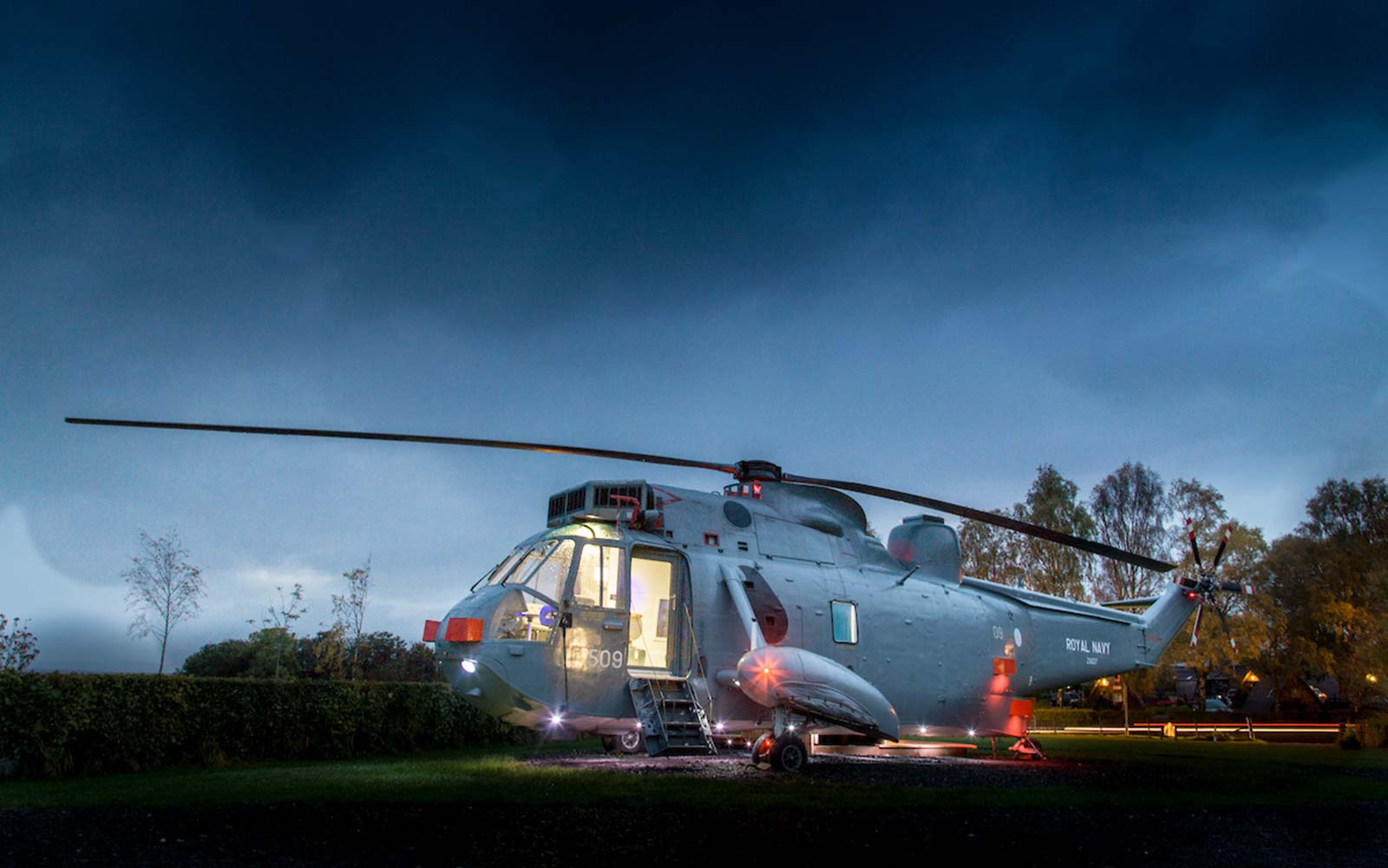 We Can't Think of Anything Cooler Than Camping in This Converted Helicopter