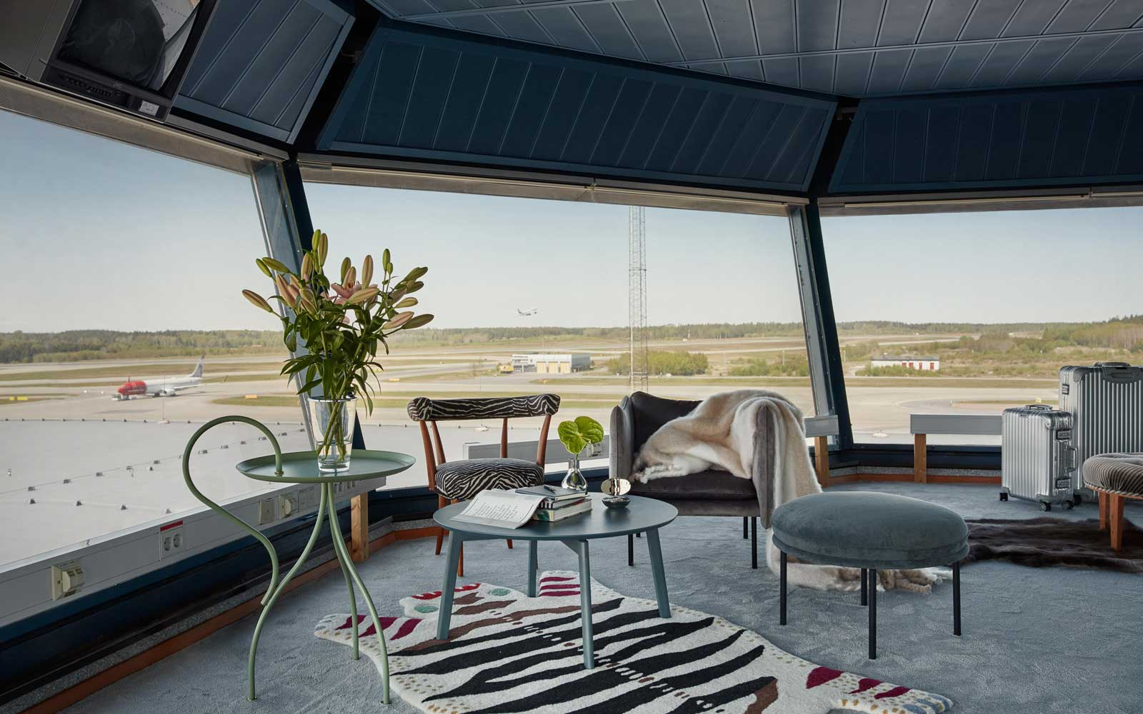 This Luxury Air Traffic Control Tower Will Make You Want to Sleep at the Airport