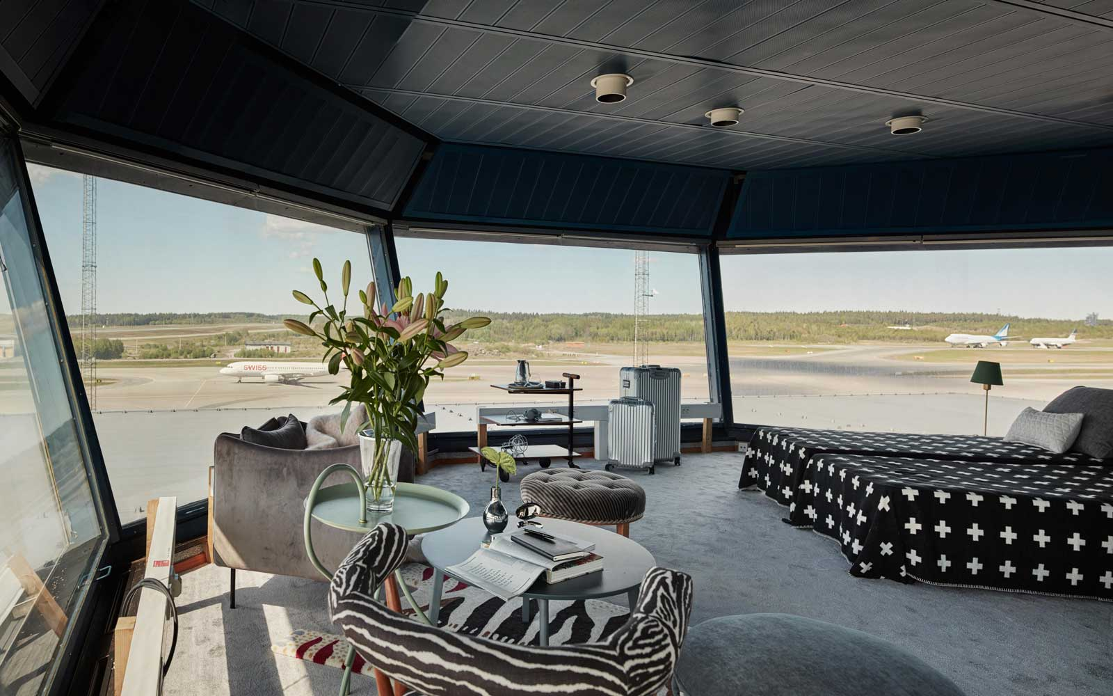 Airport control tower vacation rental
