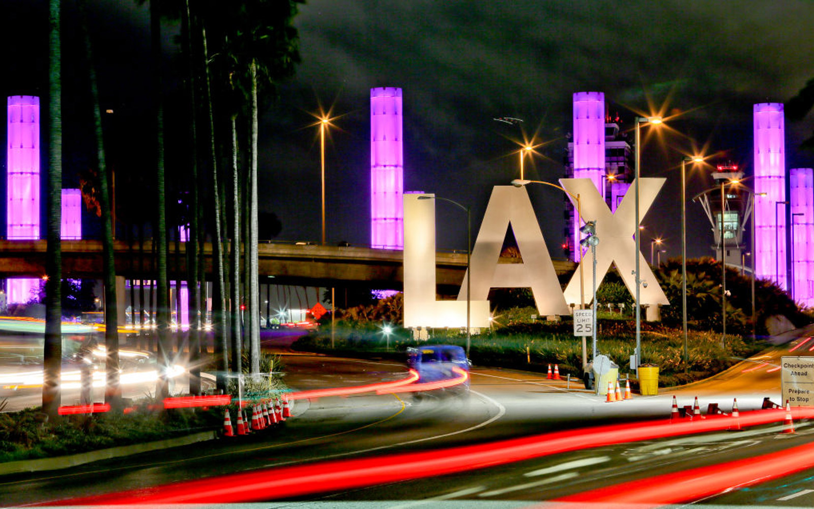 LOS ANGELES, CA - FEBRUARY 06: Los Angeles International Airport LAX Sign on February 06, 2017 in Los Angeles, California.  (Photo by FG/Bauer-Griffin/GC Images)
