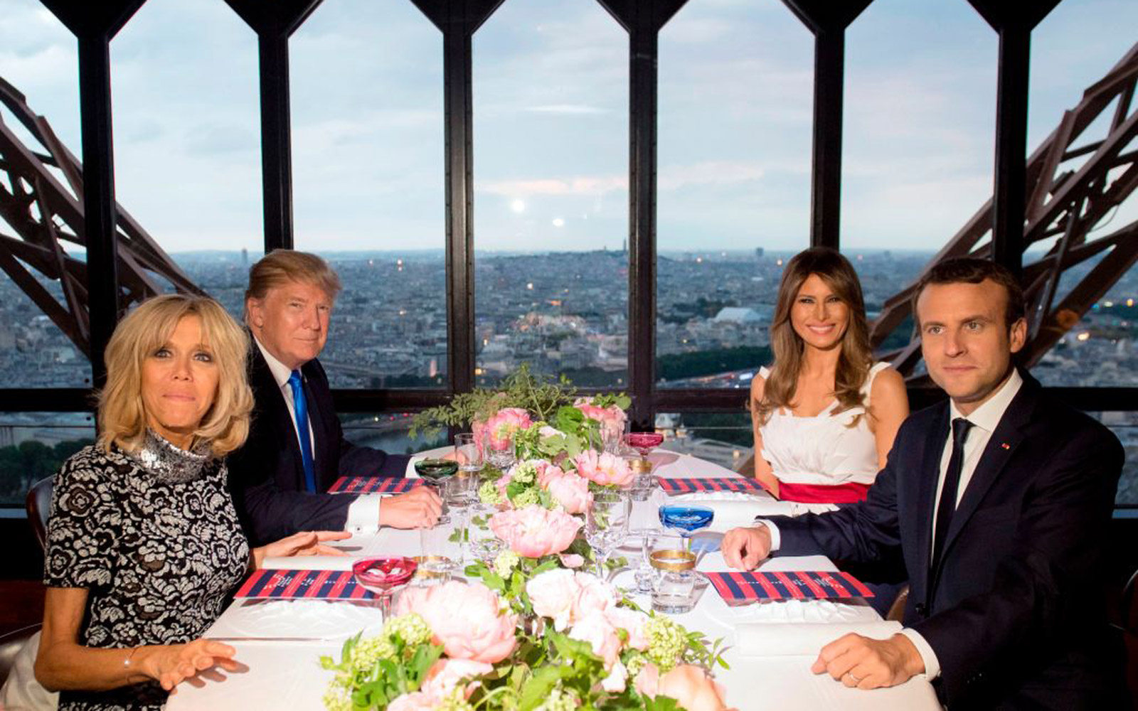 Here's What President Trump and Emmanuel Macron Ate at the Michelin-starred Restaurant Inside the Eiffel Tower