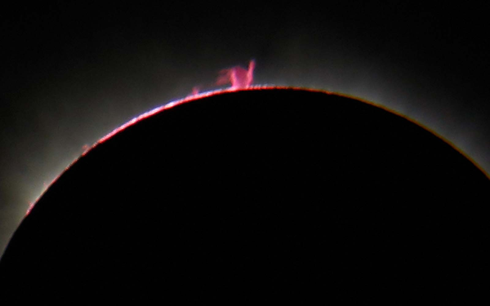 Stages timeline of Solar Eclipse Sun Viewing Prominences