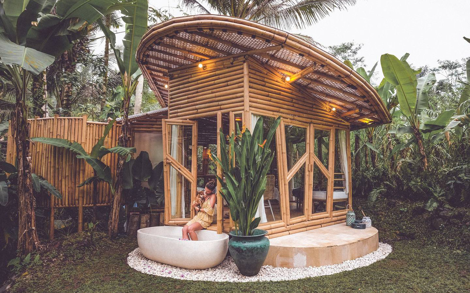 Stay in a Luxurious Bamboo Bungalow in Bali for Only $97 a Night