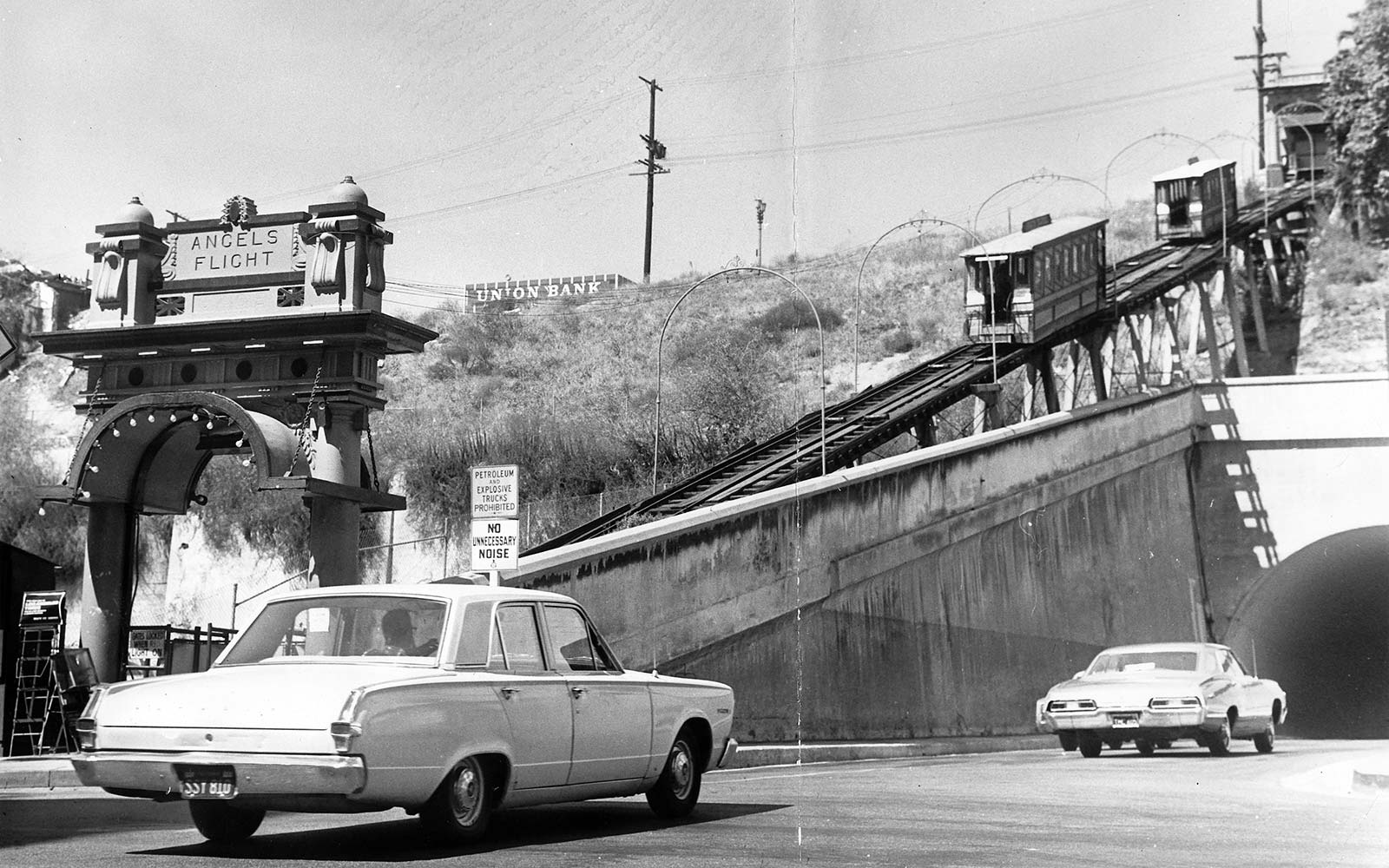 Angels Flight Funicular Railway historic archival downtown los angeles