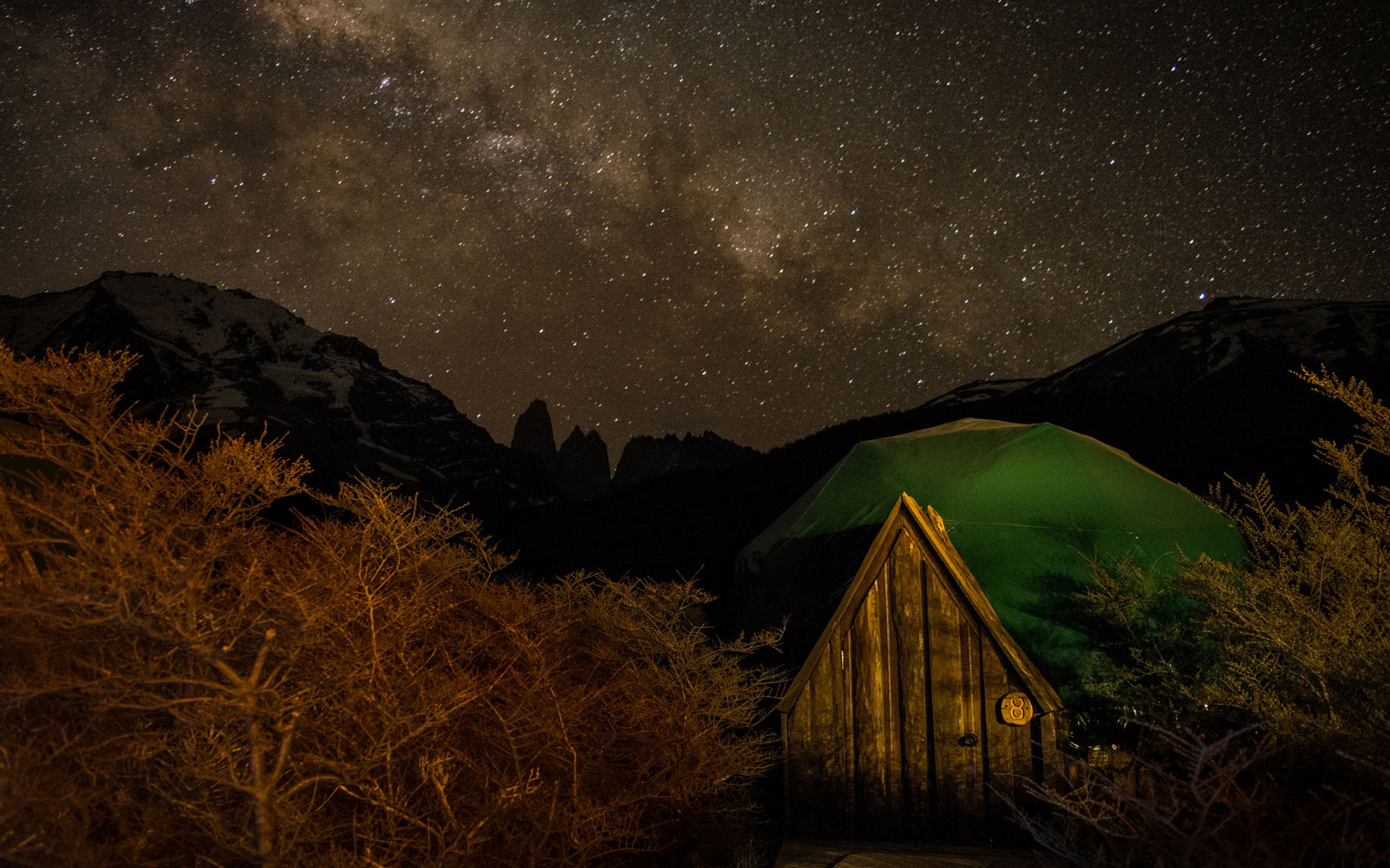 ecocamp patagonia starry night