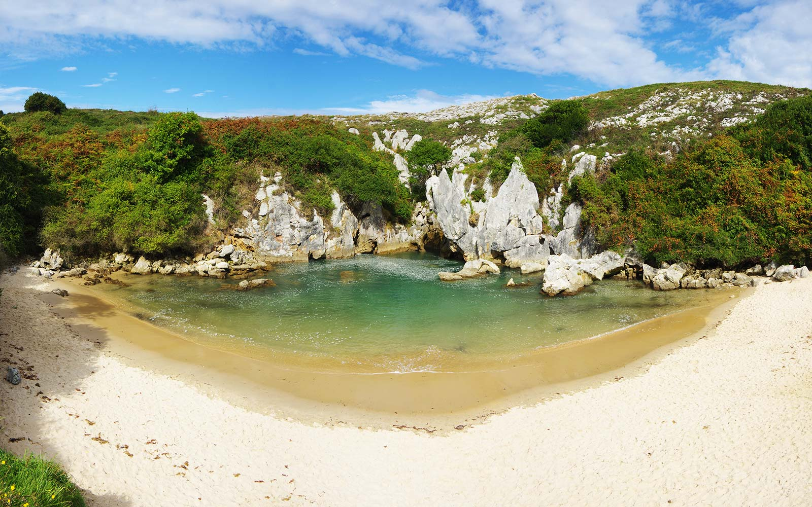 Playa De Gulpiyuri Secret Beach Asturias Llanes Spain