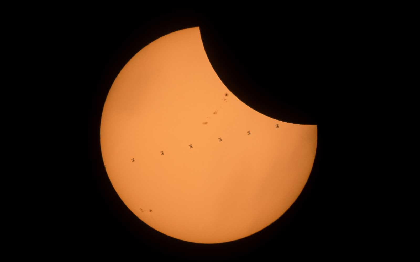 See the International Space Station Photobomb the Eclipse