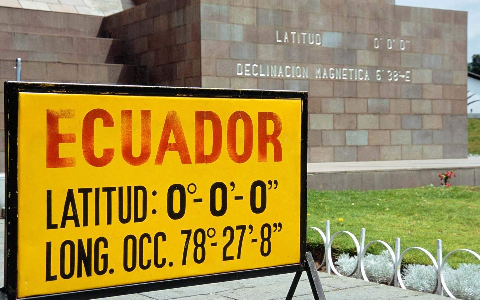 The equator line (Latitude) runs through the northern part of Ecuador delimiting the Northern and Southern hemisphere Middle of the World